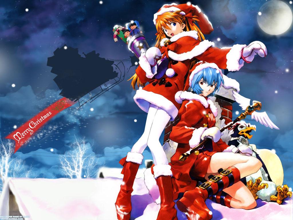 Anime Christmas Wallpaper.Merry Christmas Wallpaper Anime