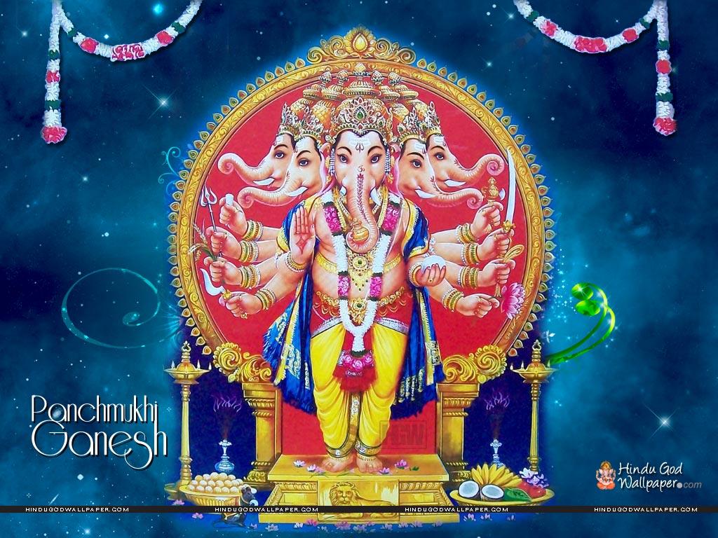 Lord Panchmukhi Ganesha Wallpaper Download