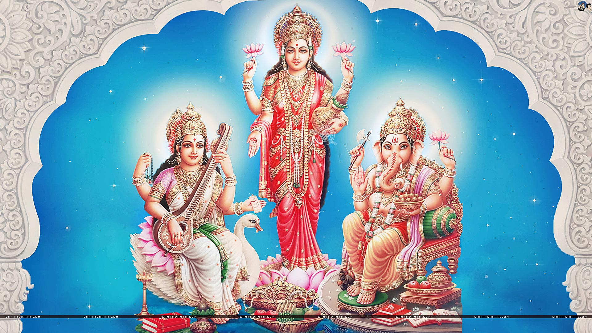 Goddess Lakshmi Hd Wallpapers For Desktop Wallpaper Galaxy