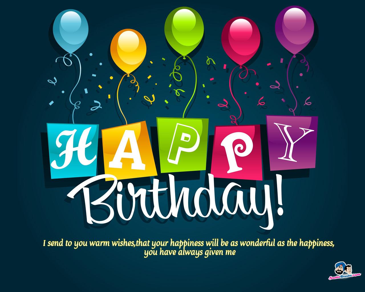 Santabanta Happy Birthday Wallpaper Free Download