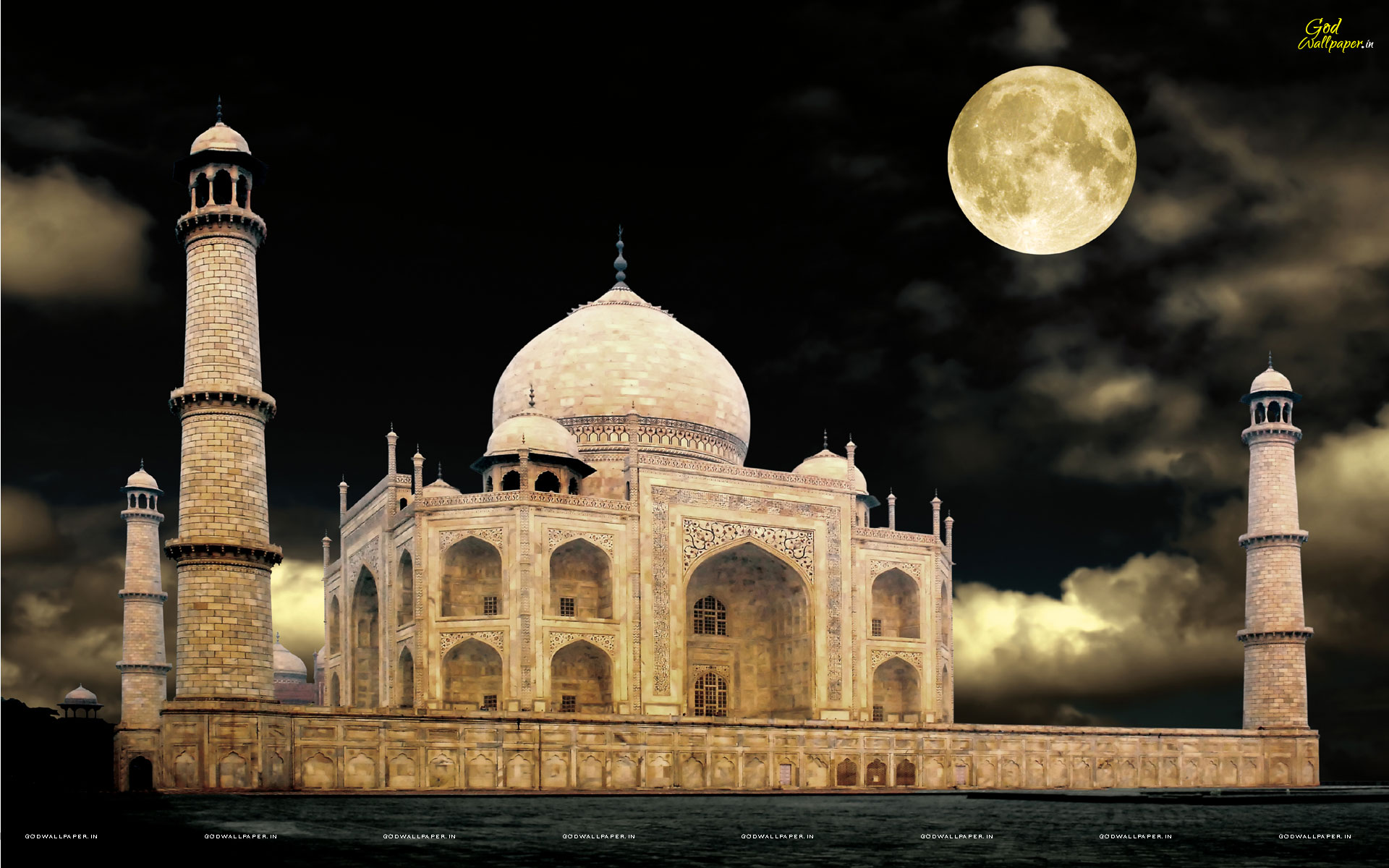 Taj Mahal Night Wallpapers Photos Images Download