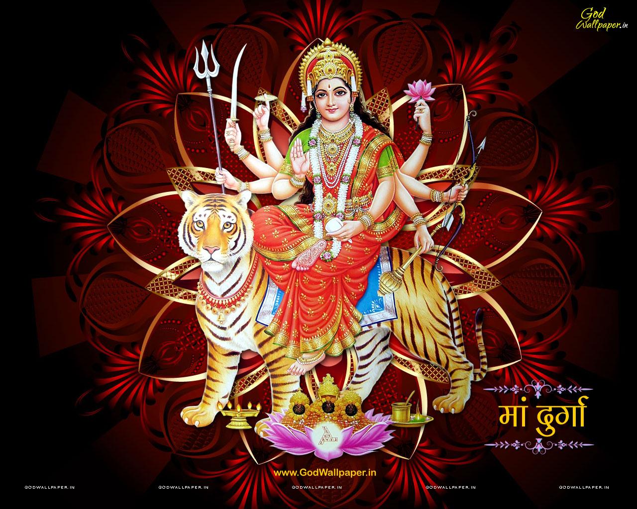 Goddess Durga Hd Desktop Wallpaper Widescreen