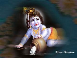 Bal Gopal Krishna Mobile Wallpaper