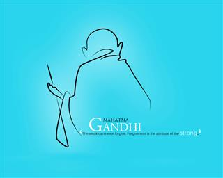 Mahatma Gandhi HD Mobile Wallpaper